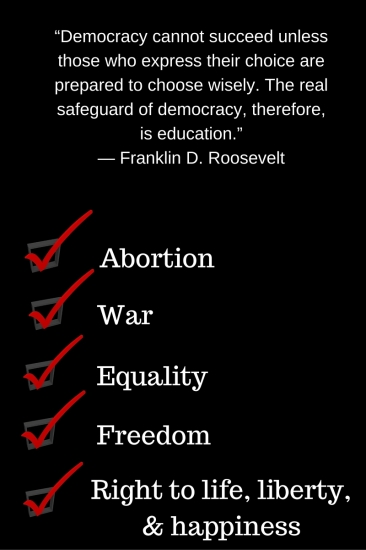 """""""Democracy cannot succeed unless those who express their choice are prepared to choose wisely. The real safeguard of democracy, therefore, is education."""" ― Franklin D. Roosevelt"""